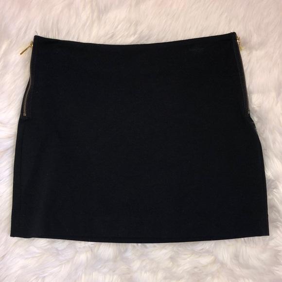 MICHAEL Michael Kors Dresses & Skirts - Michael Kors black mini skirt with gold zippers